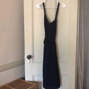 Sezane navy dress